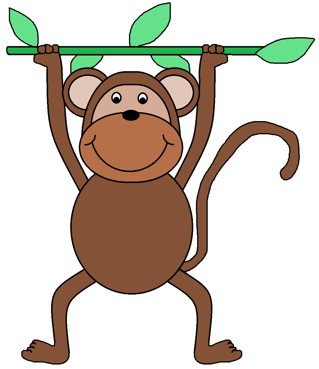 Monkey clip art for teachers free clipart images 4