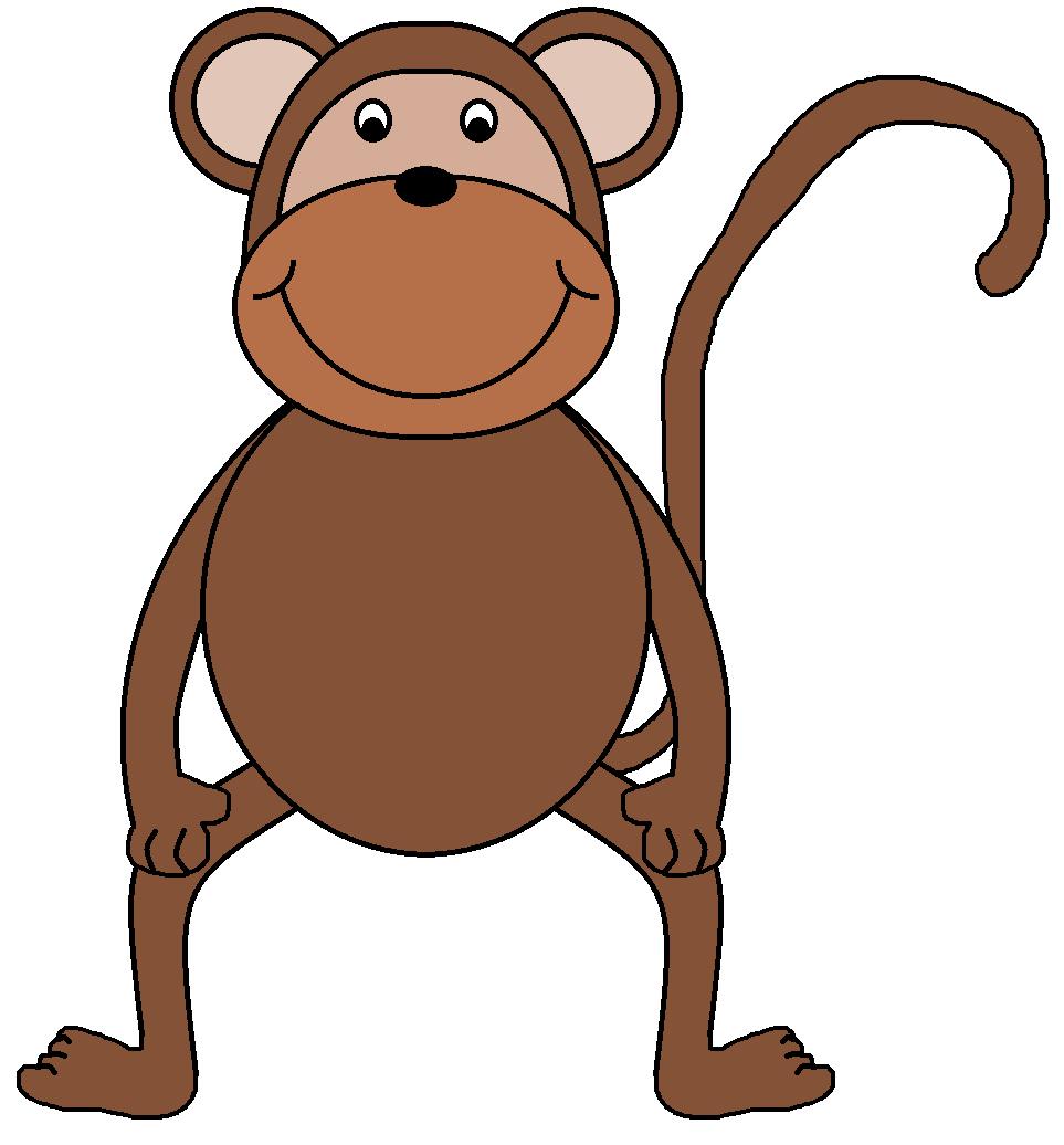 Monkey clip art outline free clipart images