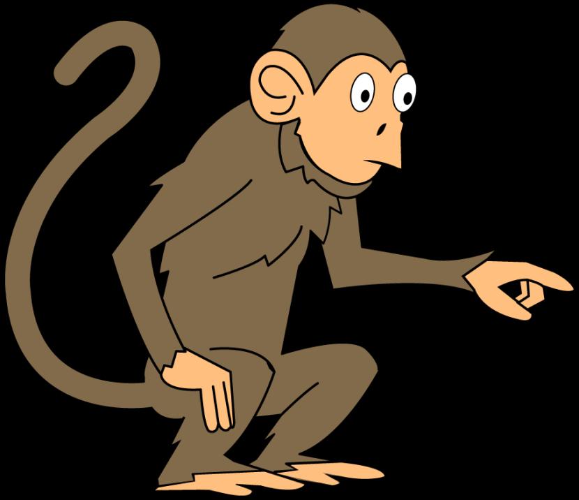 Monkey clipart 2