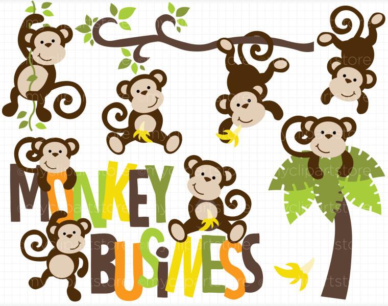 Monkey clipart 5