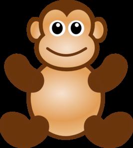 Monkey toy clip art at vector clip art