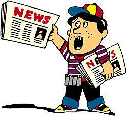 Newspaper carrier clipart