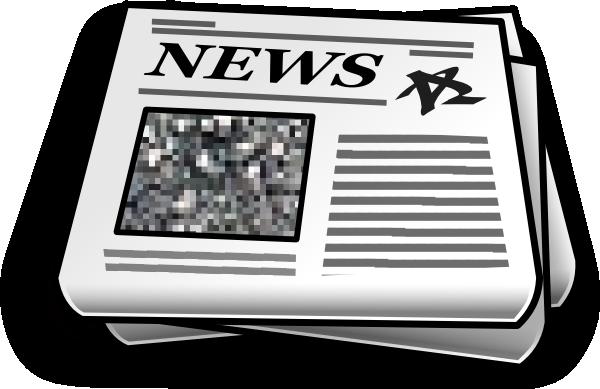 Newspaper clip art at vector clip art