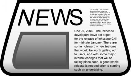 Newspaper clip art download