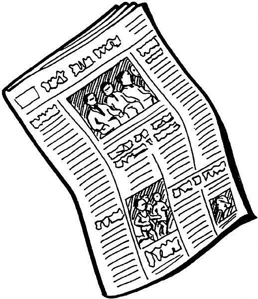 Newspaper clip art free illustrations