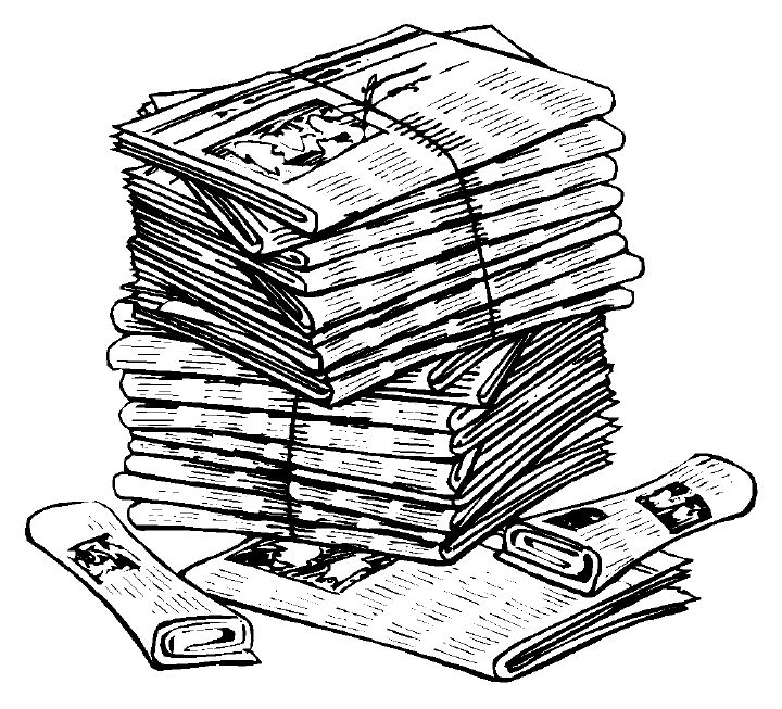 Newspaper clip art to customize free clipart images