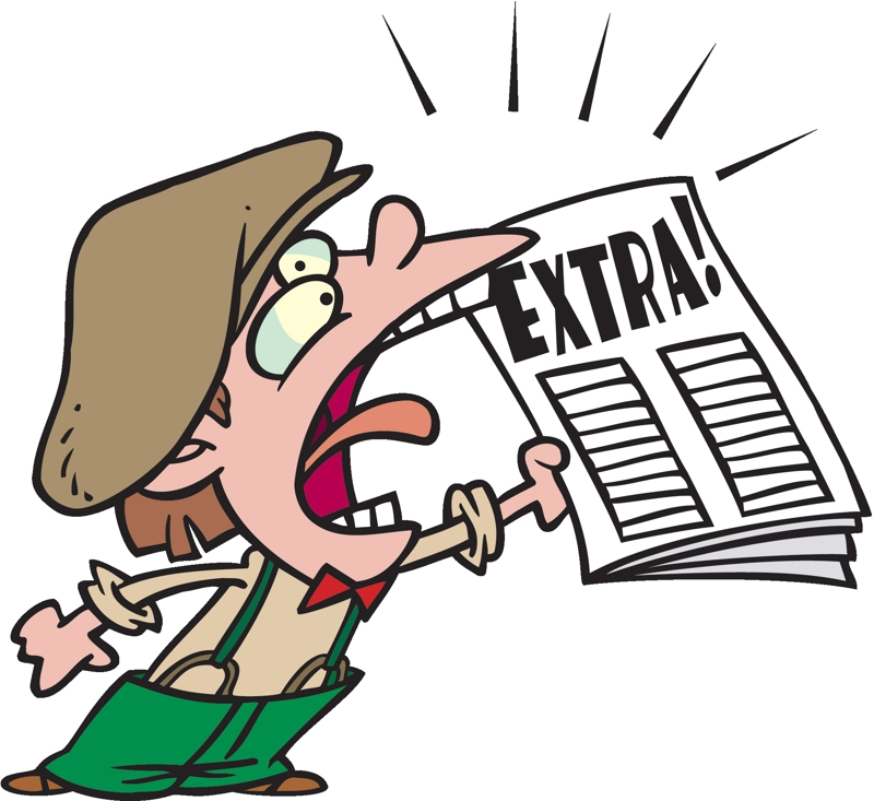 Newspaper clipart 4 image