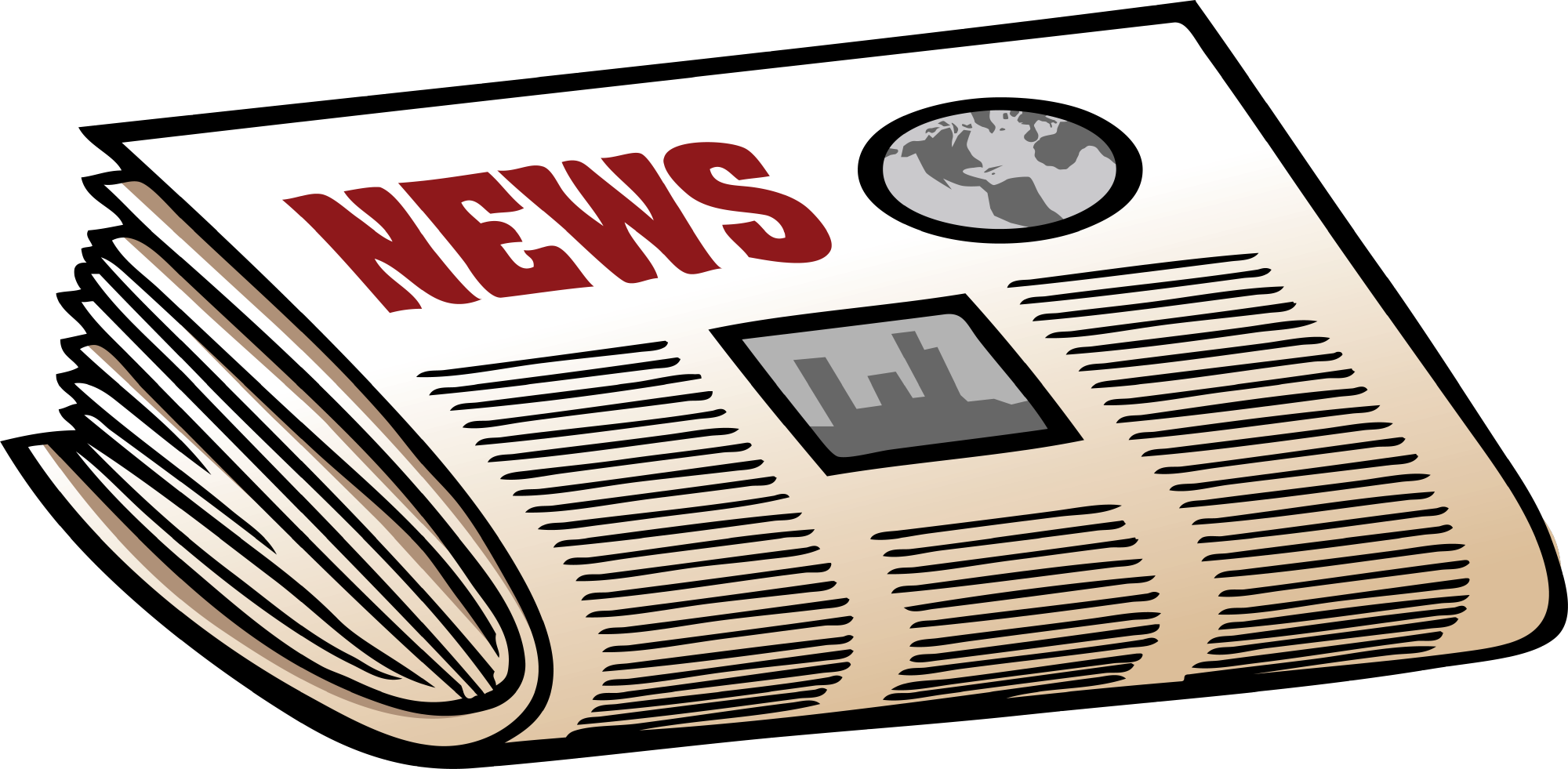 Newspaper clipart free clip art images
