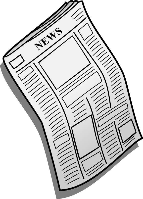 Newspaper clipart free images 3