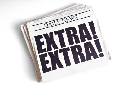 Newspaper extraextraheadline clip art image