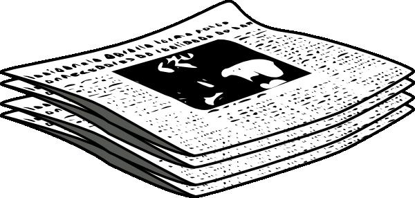 Newspaper journal clip art at vector clip art