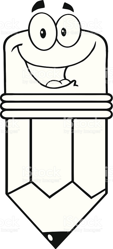 Pencil  black and white happy pencil clipart black and white clipartxtras