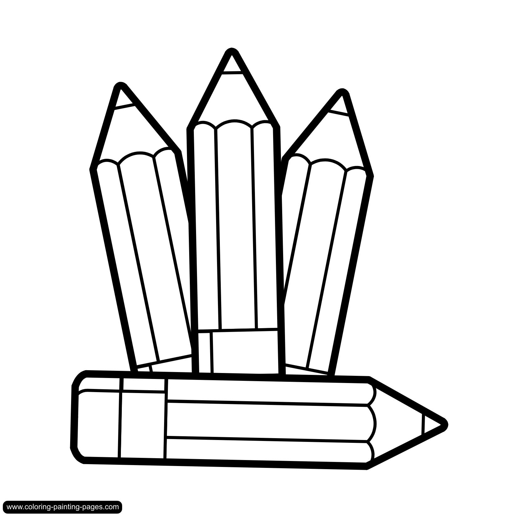 Pencil  black and white marker clipart black and white pencil in color marker