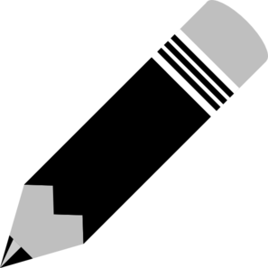 Pencil  black and white pencil clip art at vector clip art