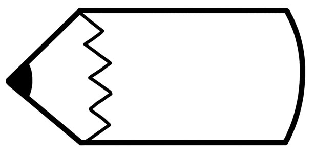 Pencil  black and white pencil clipart photo frame and in color pencil