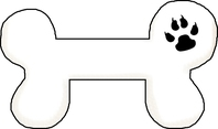 Photos of dog bone outline with black clipart