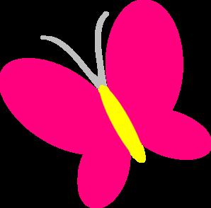 Pink butterfly clip art at vector clip art