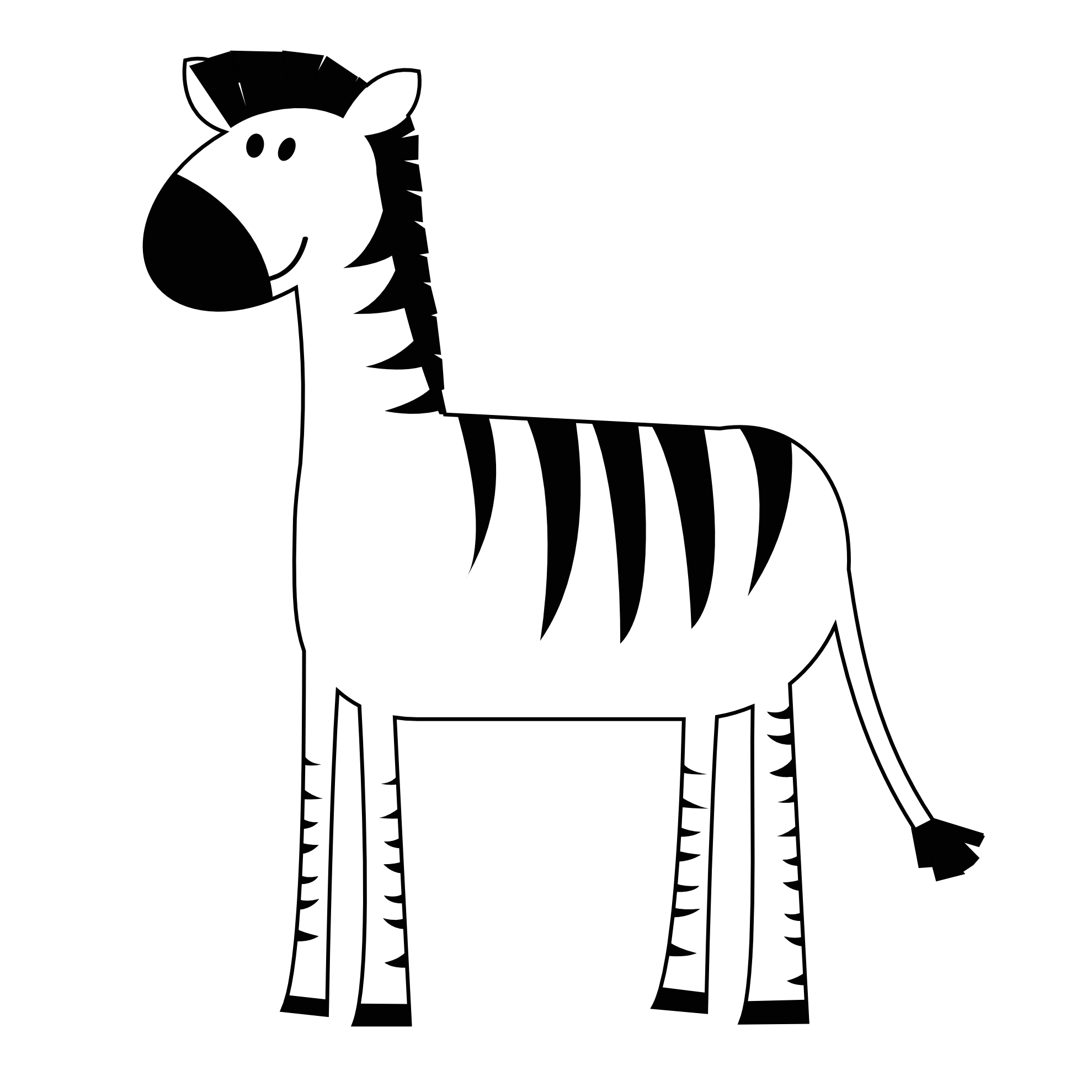 Pink zebra clipart free images