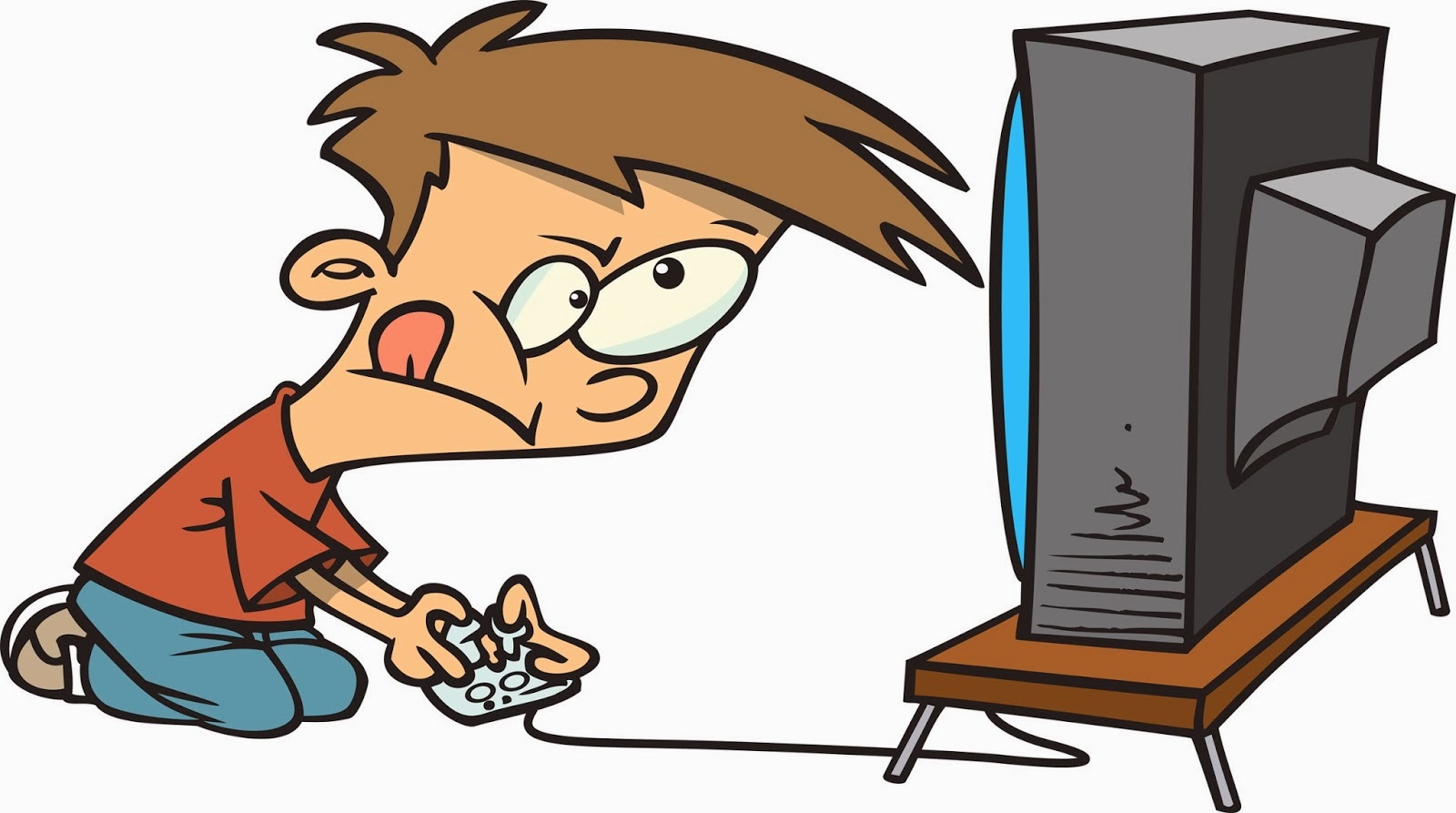 Play video games clipart