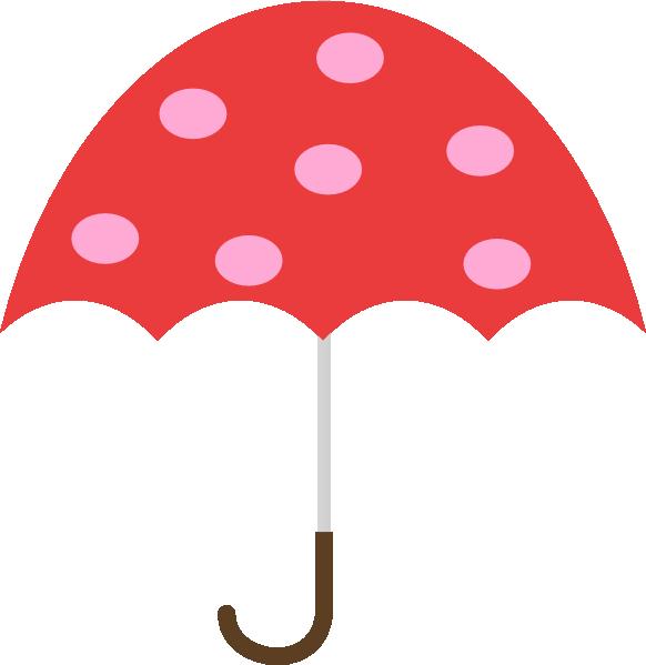 Polka dot umbrella clip art at vector clip art