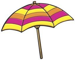 Purple umbrella clipart image