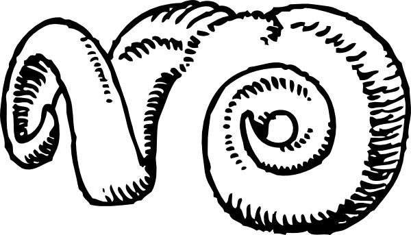 Ram horns clip art free vector in open office drawing svg