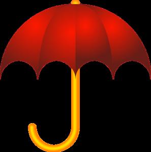 Red umbrella clip art at vector clip art