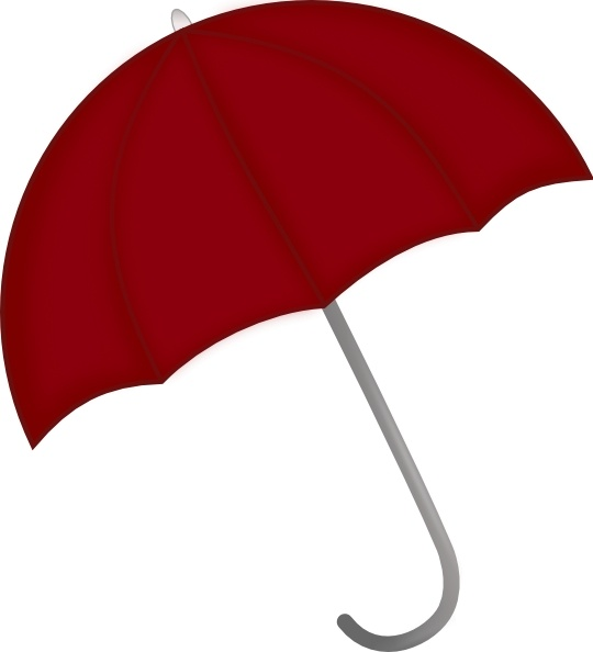 Red umbrella clip art free vector in open office drawing svg