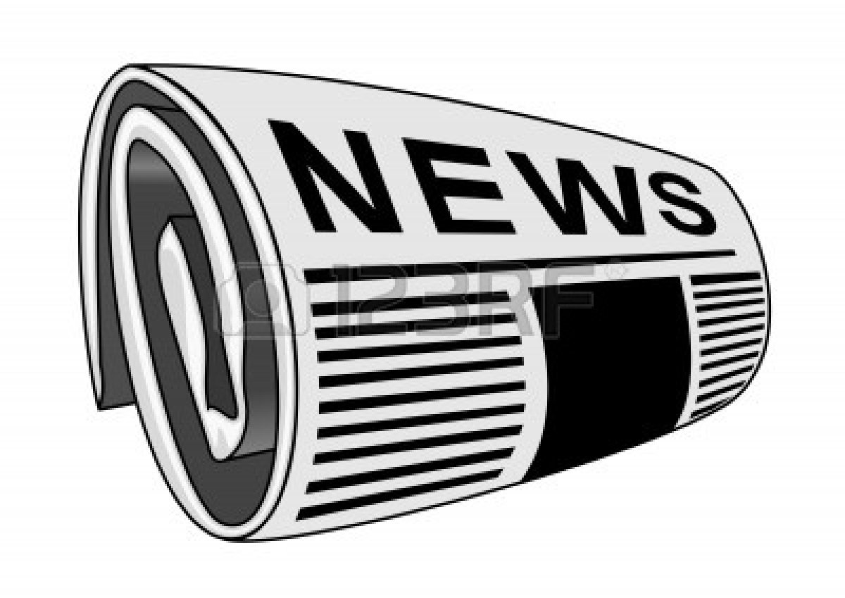 Rolled up newspaper clipart free