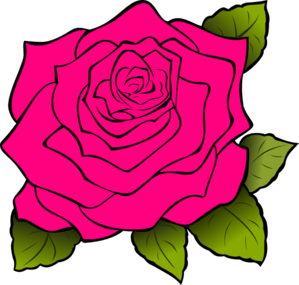 Rose clip art black and white free clipart images