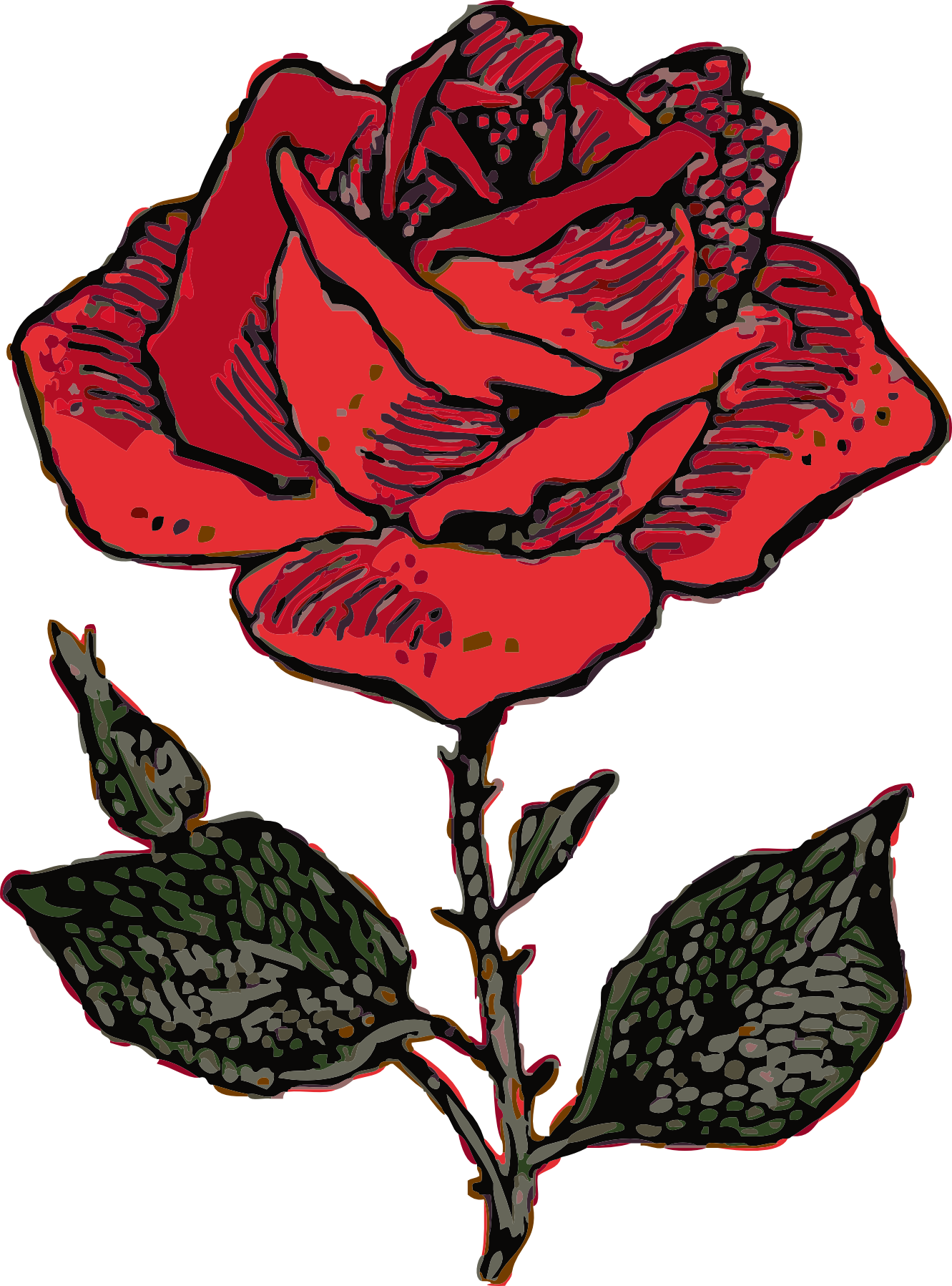 Rose clip art free clipart images