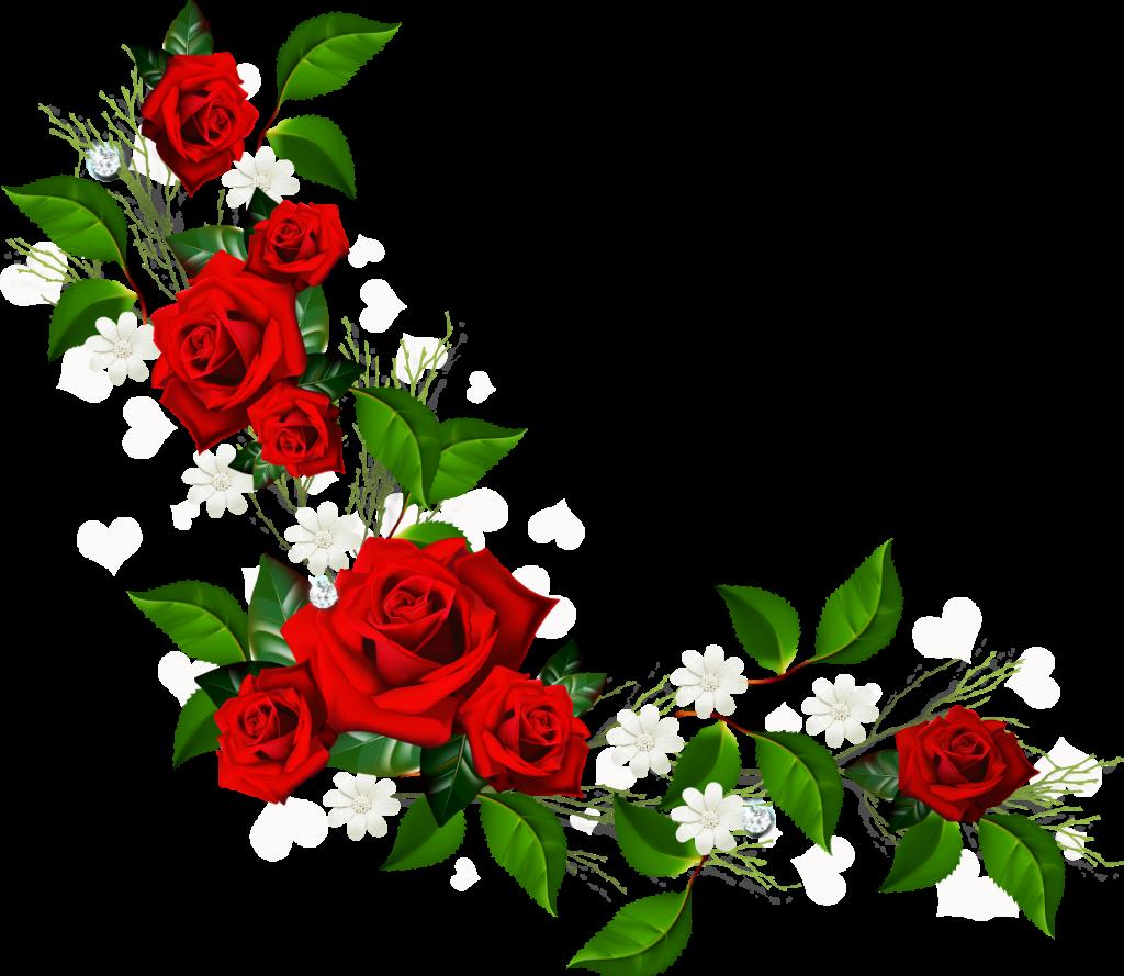 Rose flower border clip art