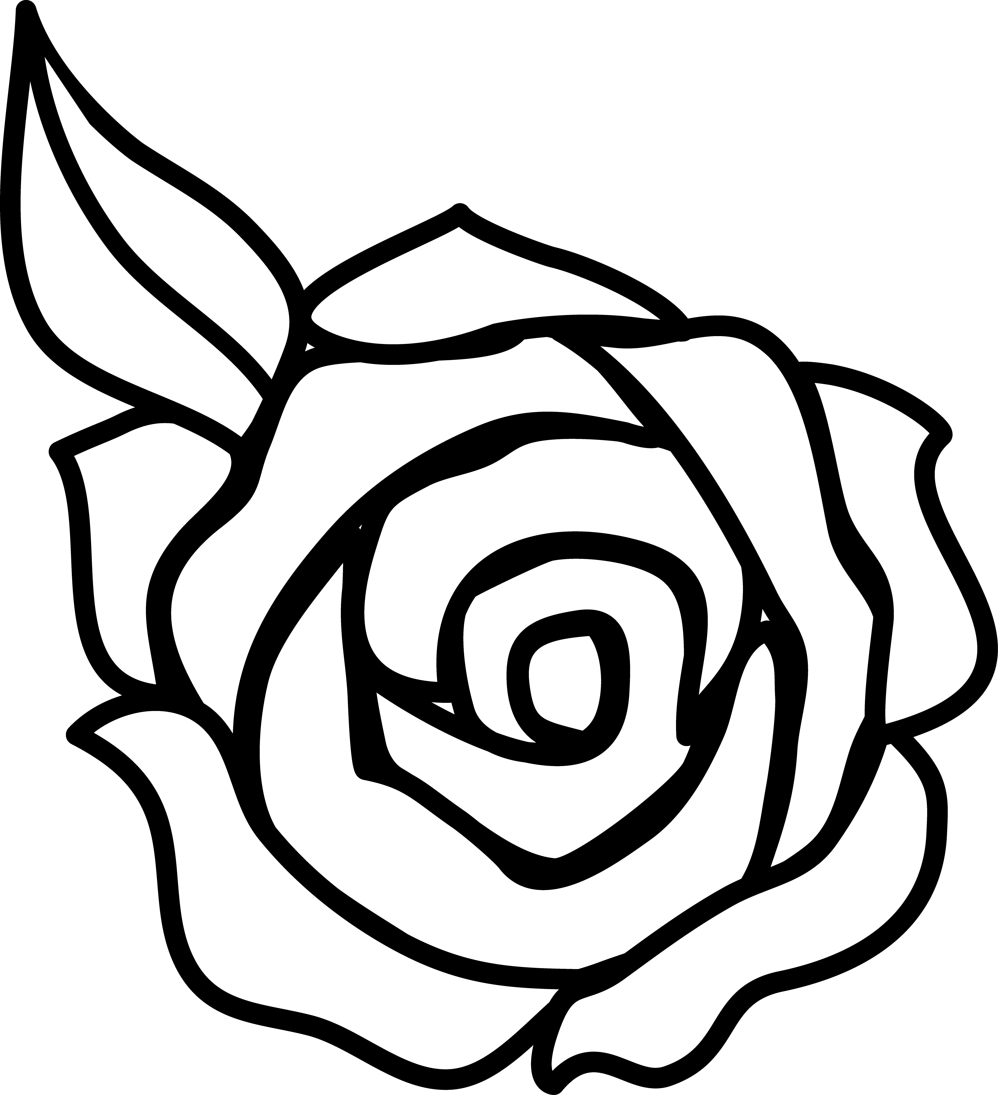 Roses rose clip art black and white free clipart images