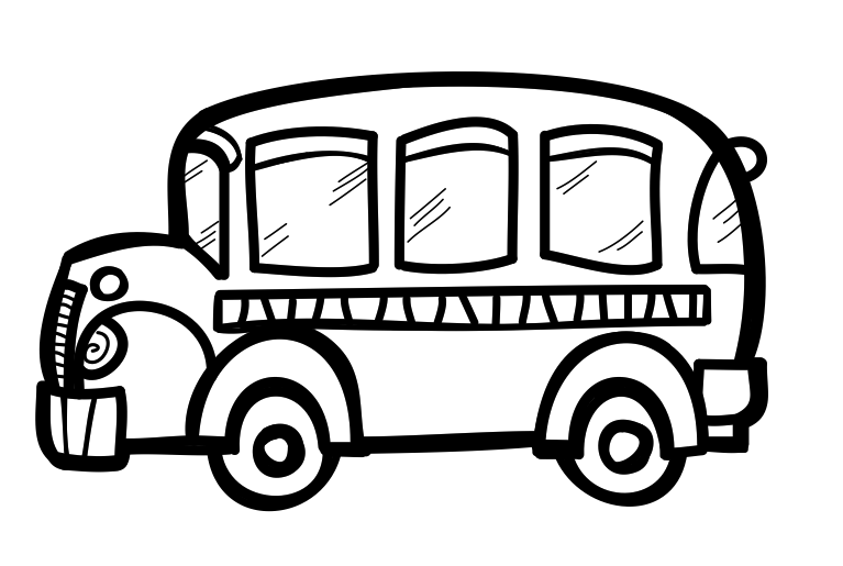 School bus clipart black and white