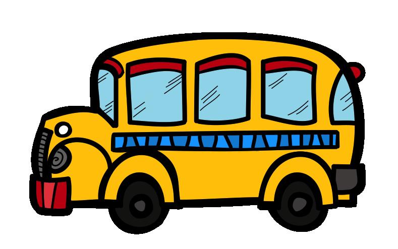 School bus cute clipart
