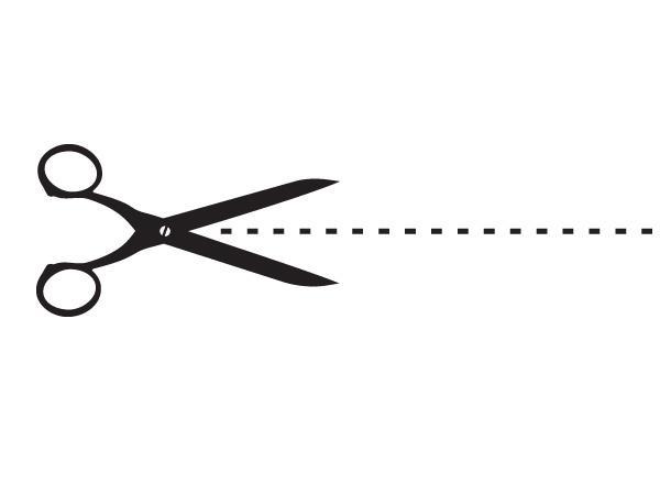 Scissors border clipart