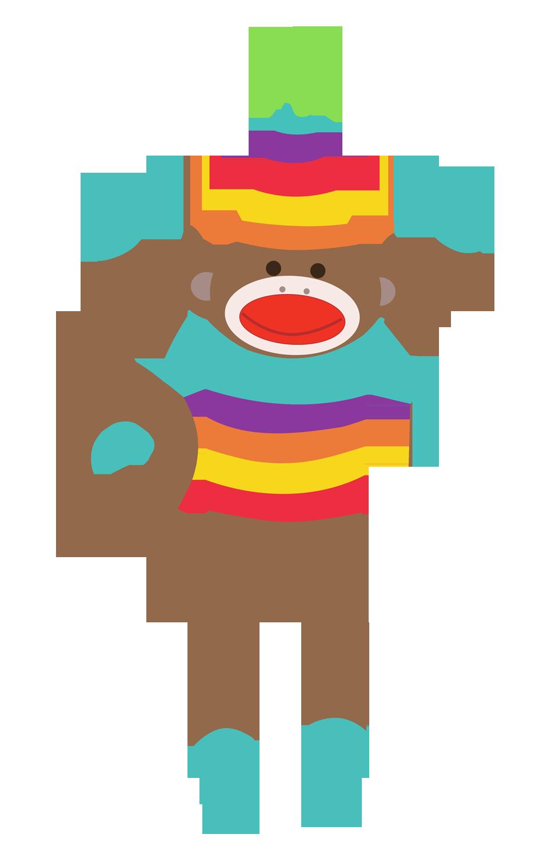 Sock monkey clipart free download clip art on