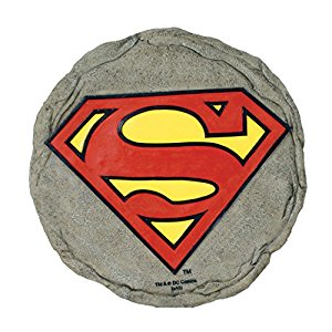 Spoontiques superman logo stepping stone garden