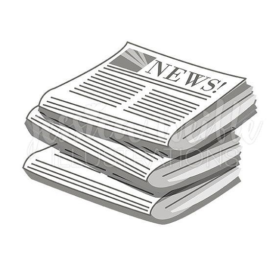 Stack of newspapers cute digital clipart newspaper clip art