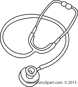 Stethoscope clipart black and white letters example
