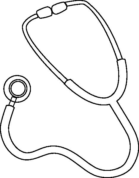 Stethoscope outline clip art at vector clip art