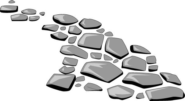 Stone path clipart
