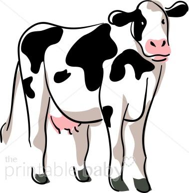 Stylized cow clipart barnyard