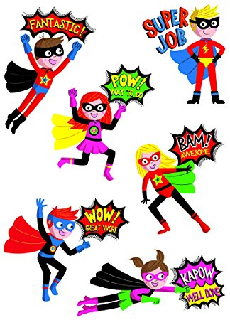 Superhero reward stickers amazon co clipart