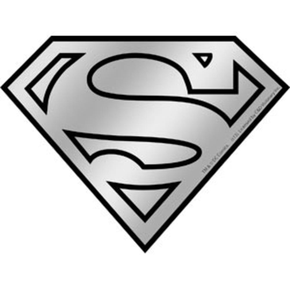 Superman logo chrome sticker
