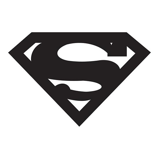 Superman logo die cut vinyl decal pv