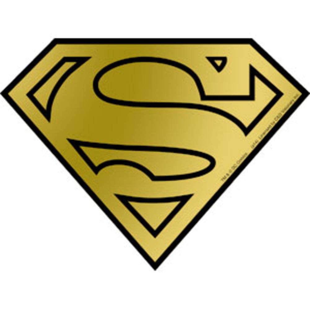 Superman logo gold foil sticker