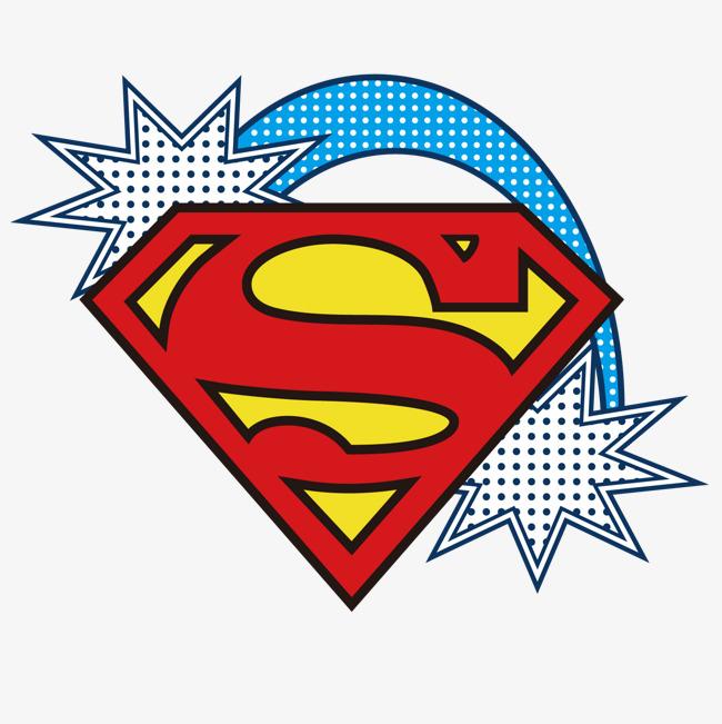 Superman logo logo divine power and vector for
