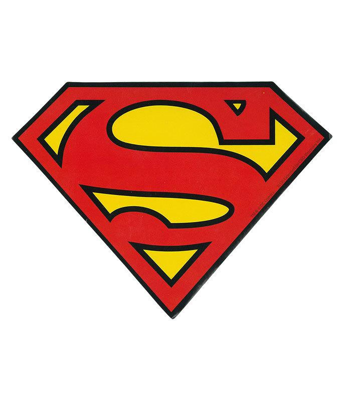 Superman logo sticker liquid blue