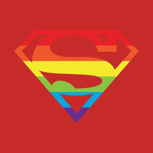 Superman logo superman gay pride logo shirt tee